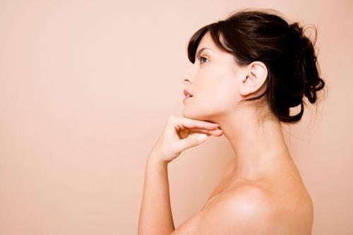 neck lift surgery woman profile shot